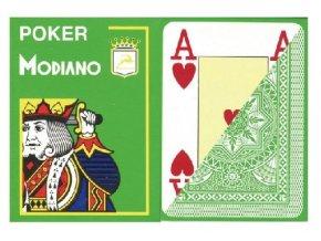 Pokrové hracie karty Modiano svetlozelené veľký index