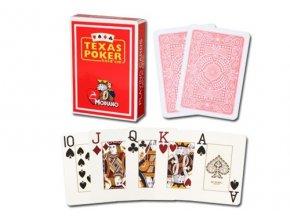 Pokrové hracie karty Modiano Texas Poker červené veľký index