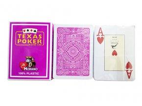 Pokrové hracie karty Modiano Texas Poker fialové veľký index