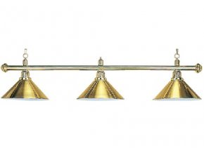 Biliardová lampa DE LUXE 3 tienidla zlatá