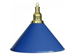 Biliardová lampa modrá 1 tienidlo komplet