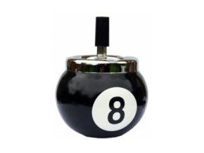 Popolník biliardová guľa č.8