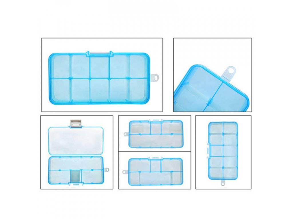 1pcs 10 Compartments Pouch Storage Box Transparent Fishing Lure Square Fishing Box Spoon Hook Lure Tackle.jpg q50