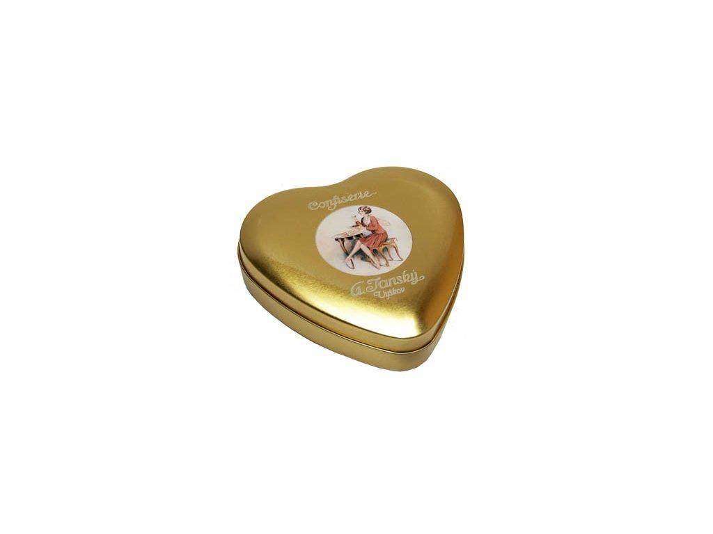 Kovová krabička srdce malé