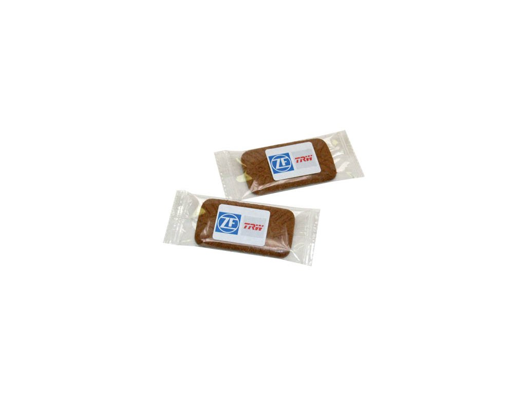 Karamelový biskvit sáček 5g s vaším logem na etiketě