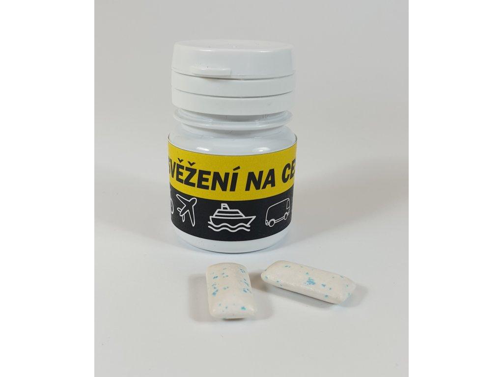 Polštářek 2 ks žvýkaček sáček s vaším logem na etiketě