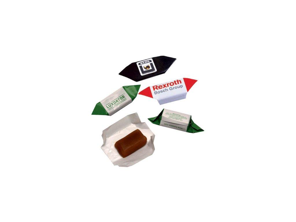 Karamelový bonbon 12 g, min. náklad 50 kg - flexotisk