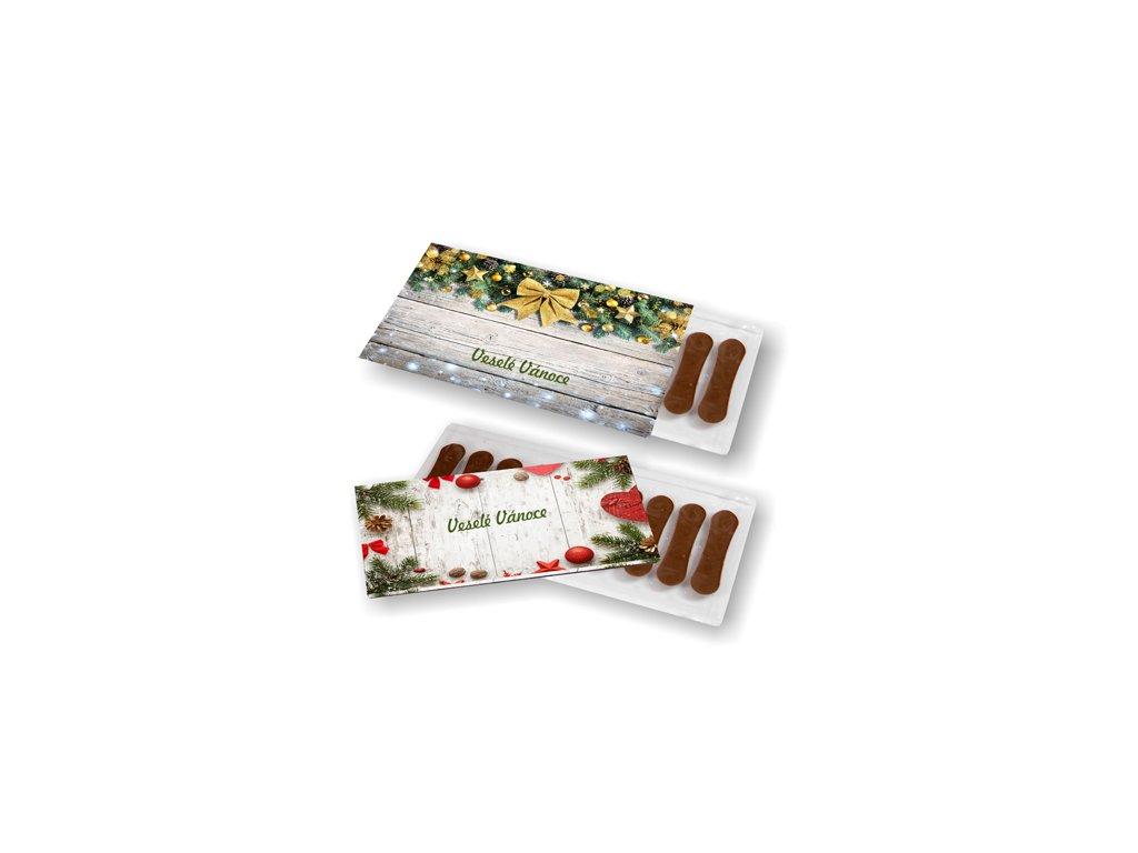Jazýčky z mléčné čokolády v papírovém přebalu