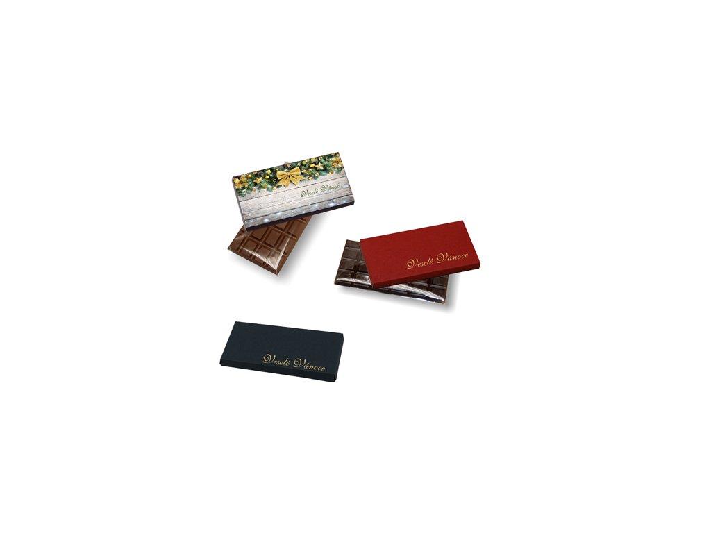Česká ruční výroba - Čokoláda 28 g v papírové krabičce