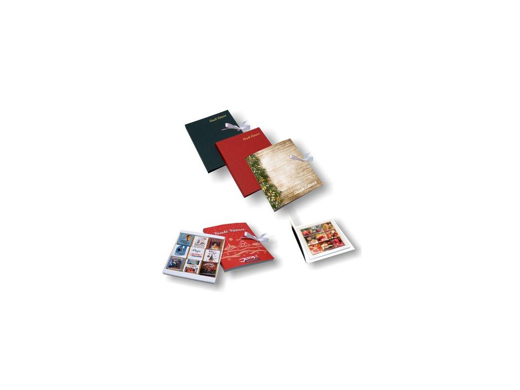 Vánoční čoko kniha 9x5g v papírové krabičce