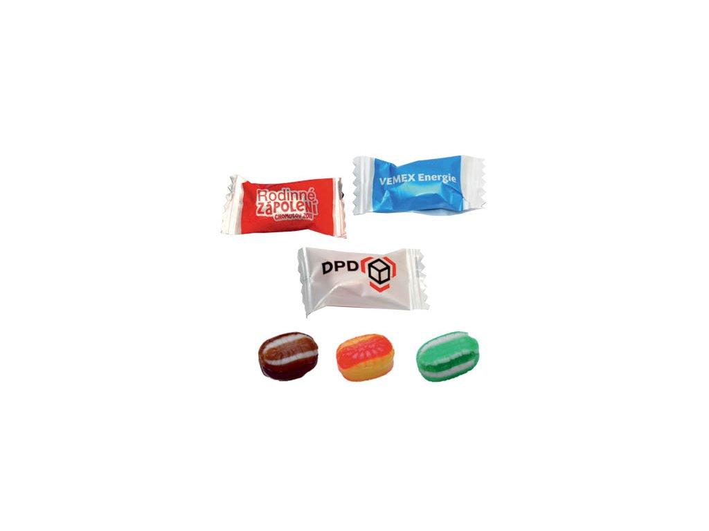 Roksový bonbon 3,5 g, min. náklad 35 kg - flexotisk 1 barva, 2 a více barev digitální tisk