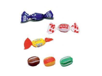 Roksový bonbon 3,5 g, min. náklad 20 kg - flexotisk 1 barva, 2 a více barev digitální tisk