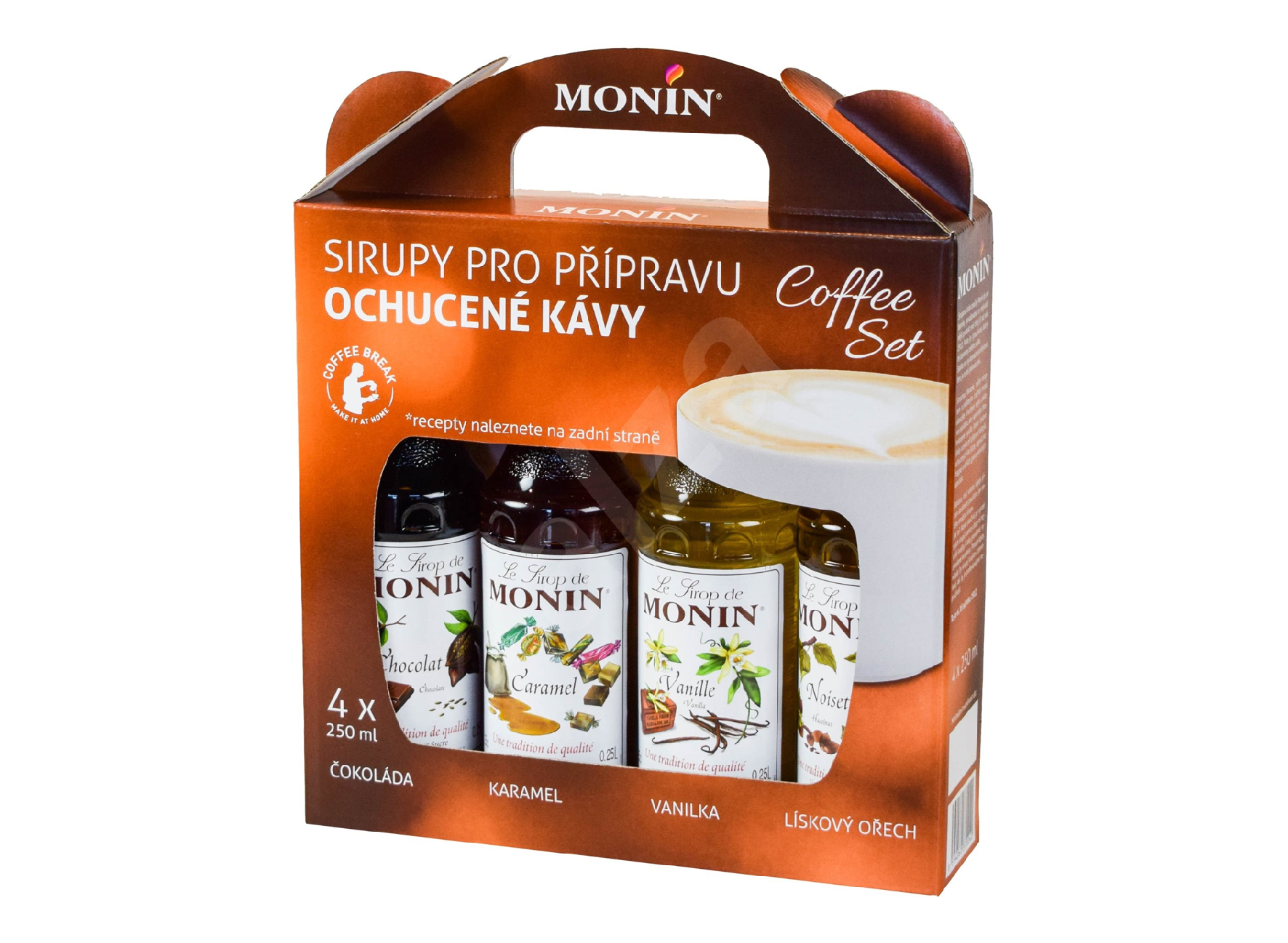 Monin Coffee box - sirupy 4 x 0,25 l