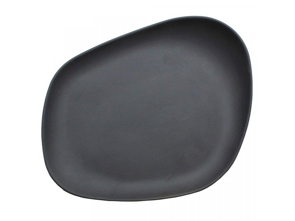 Cookplay Yayoi mělký talíř černý 23x20x3,5cm