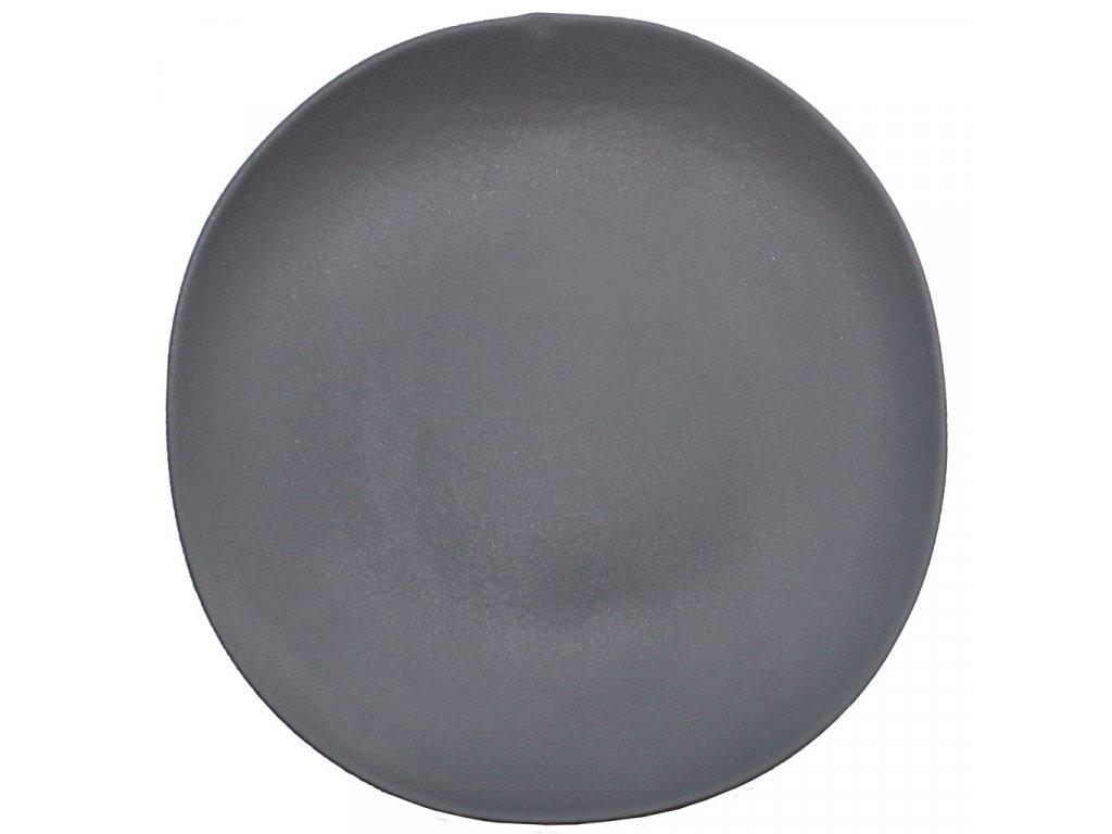 Cookplay Shell talíř černý 27,5x28,5x2,5cm