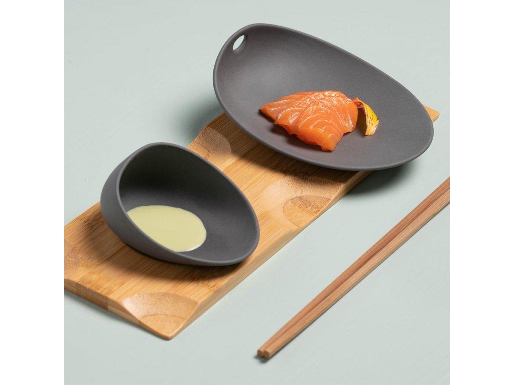 Cookplay Jomon porcelánová miska mini černá 10x8x5cm