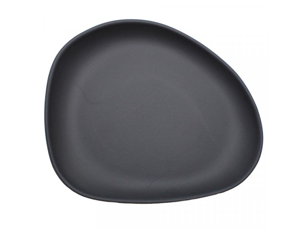 Cookplay Yayoi hluboký talíř, černý 19x16x4cm