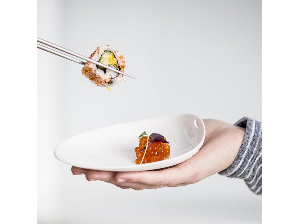 Cookplay Jomon S porcelánová miska bílá 14x11x4cm 1ks