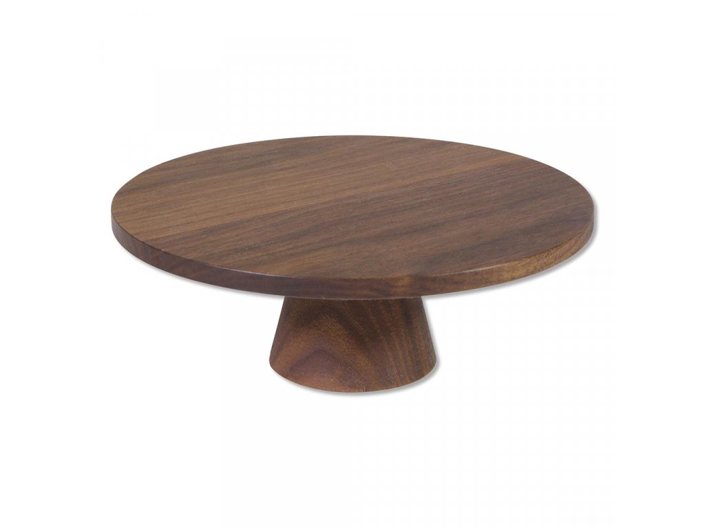 Dutch Deluxes Food stands solid walnut small ø20x7cm