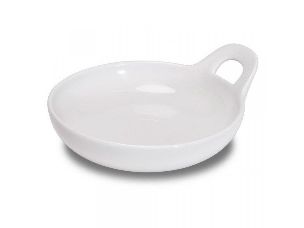 Figgjo Base talíř s vysokým okrajem a s uchem 16x18,5x6,3cm 400ml
