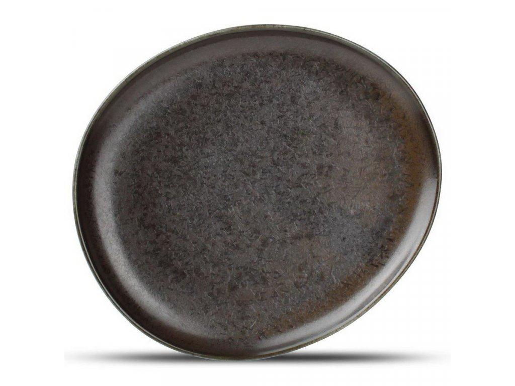 F2D Black Ceres talíř 21x18.5x2cm 1ks