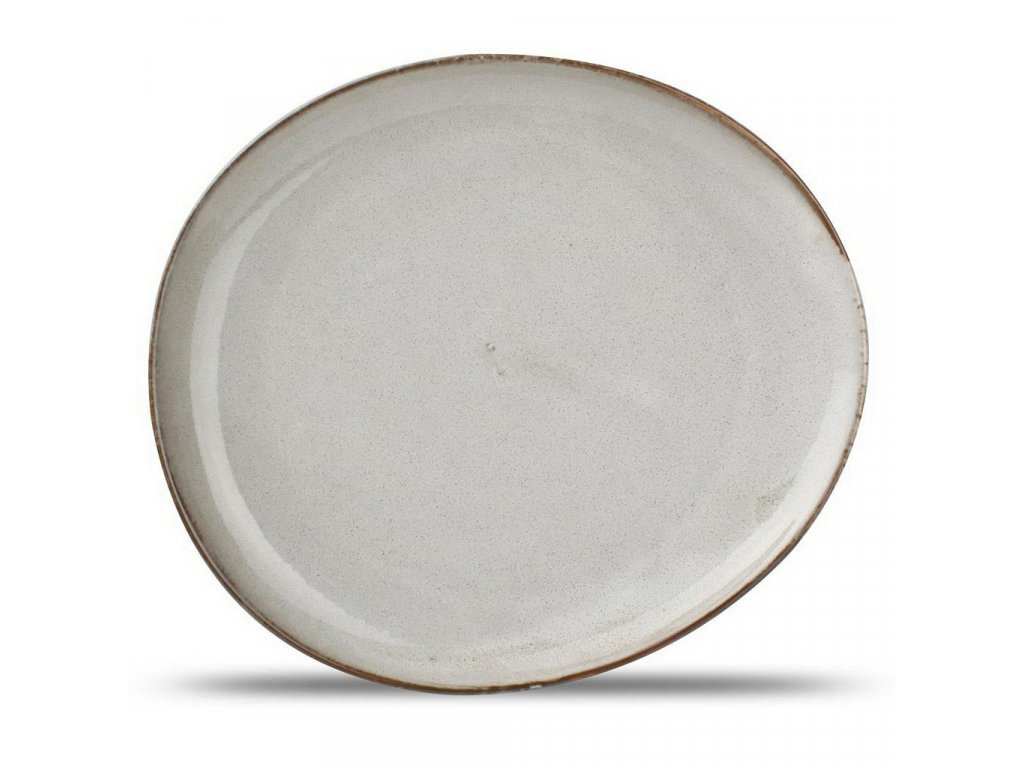 F2D Grey Ceres talíř  21x18.5x2cm