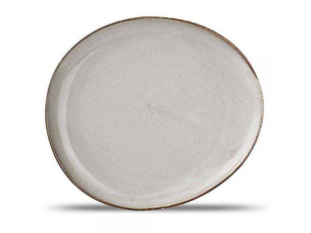 F2D Grey Ceres talíř  21x18.5x2cm 1ks