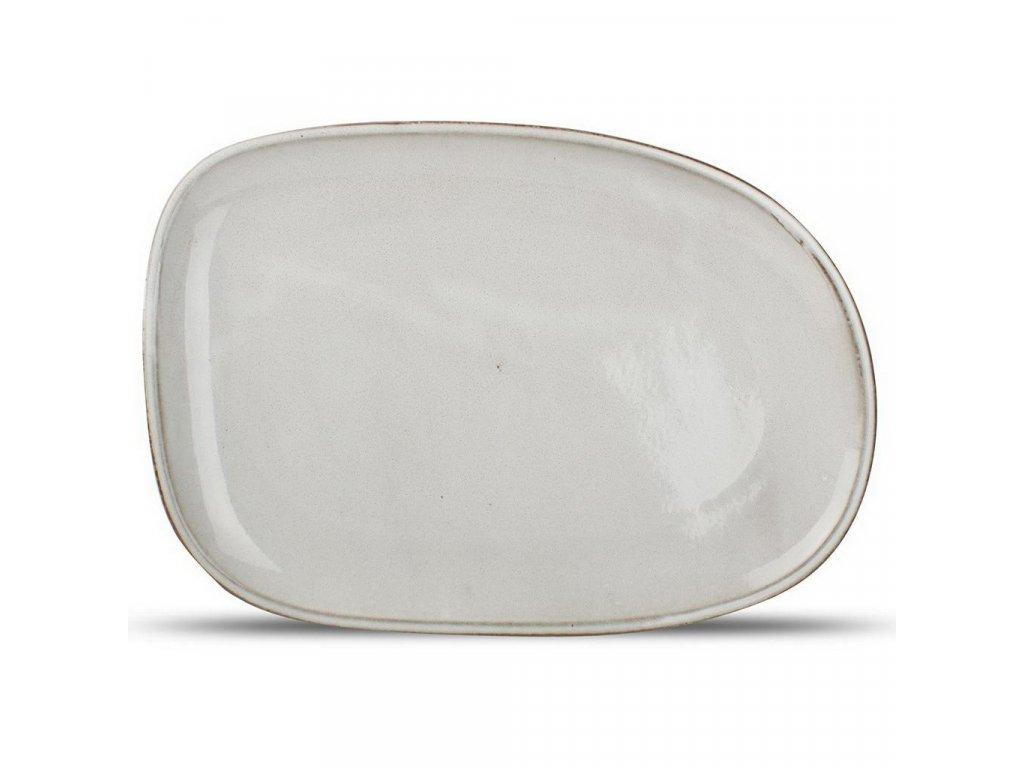 F2D Grey Ceres talíř  33x23x2.5cm