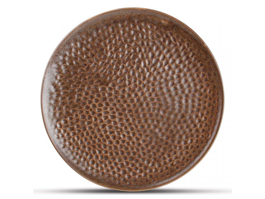 F2D Copper Hammered Brass Plate 15,5cm 1ks