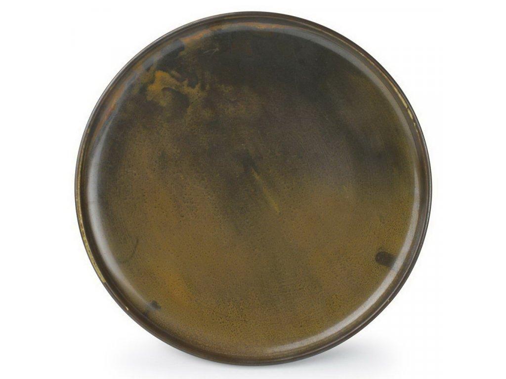 F2D Escura talíř tmavě hnědý ø26x2,5cm 1ks