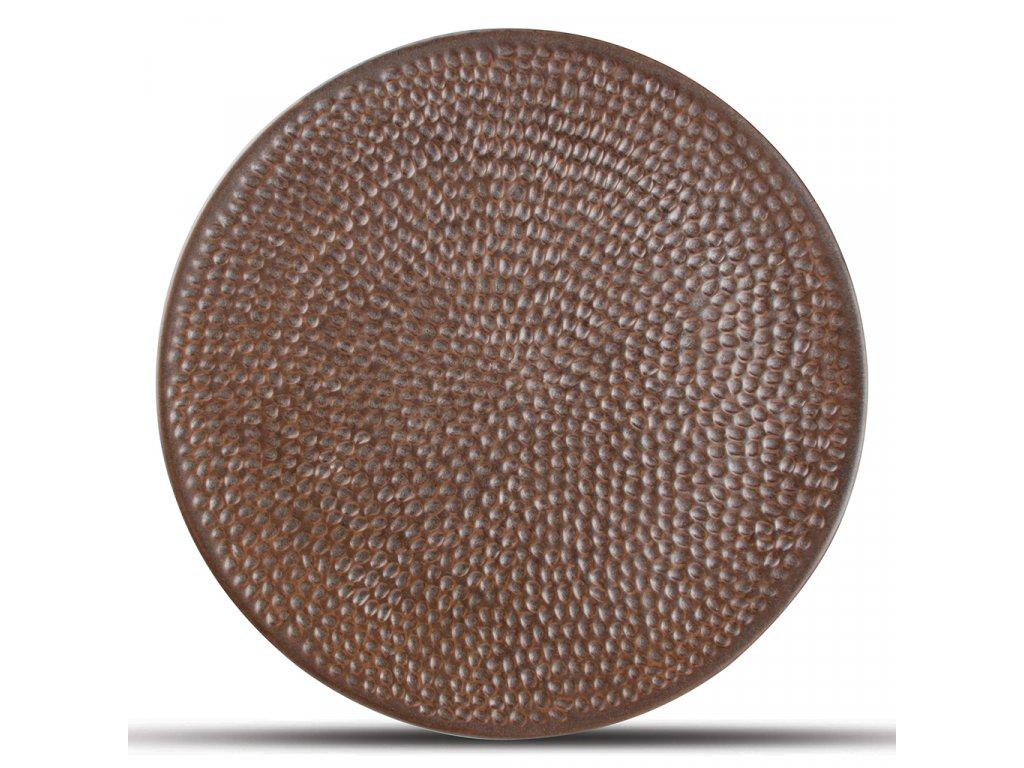 F2D Copper Hammered Brass Plate 27cm 1ks