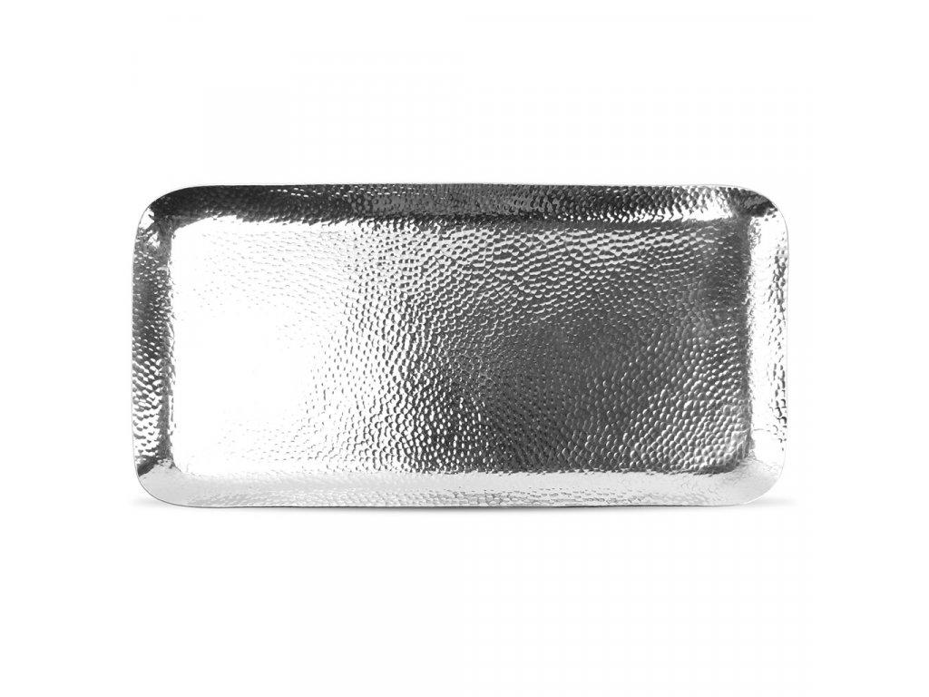 F2D Brass Serving dish 44x21cm rect. metal silver 1ks