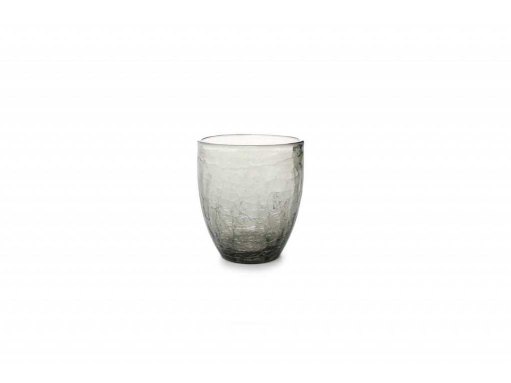 F2D Crackle sklenice šedá 250ml