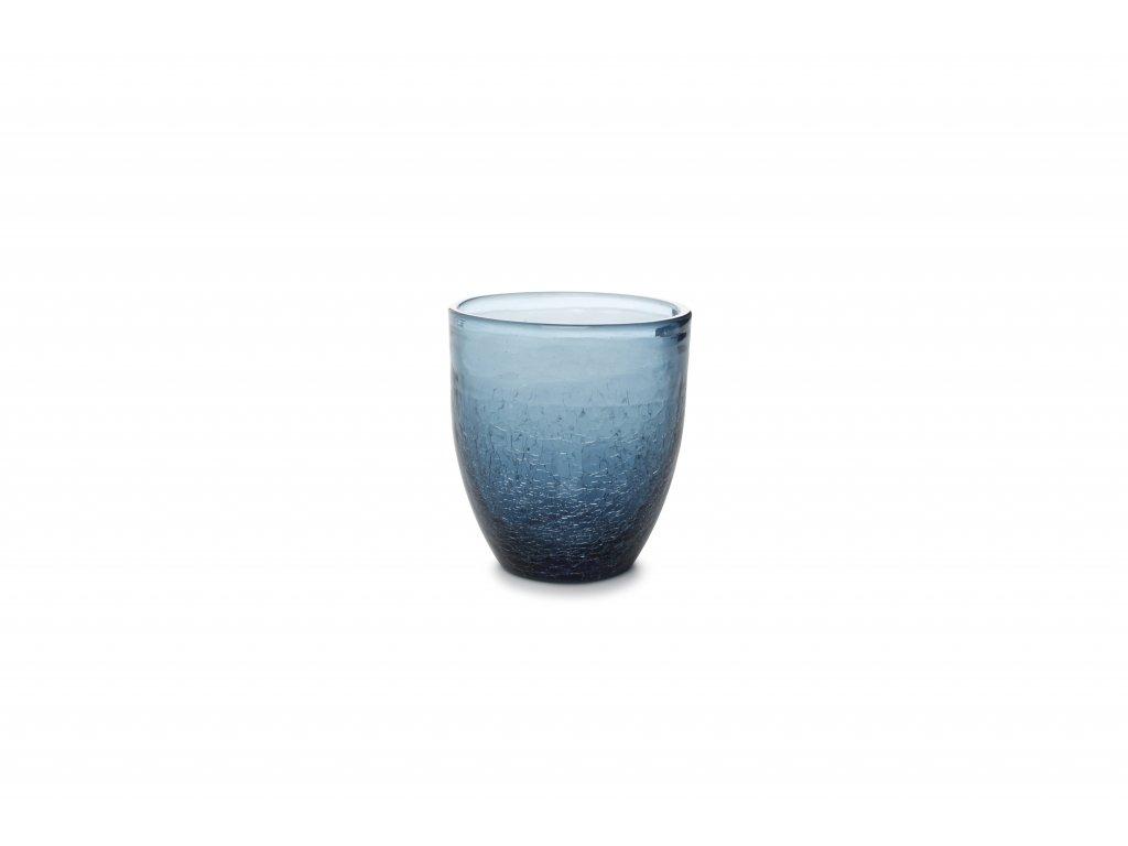 F2D Crackle sklenice modrá 250ml