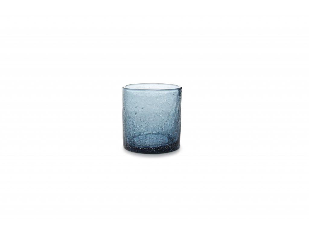 F2D Crackle Whisky sklenice modrá 220ml