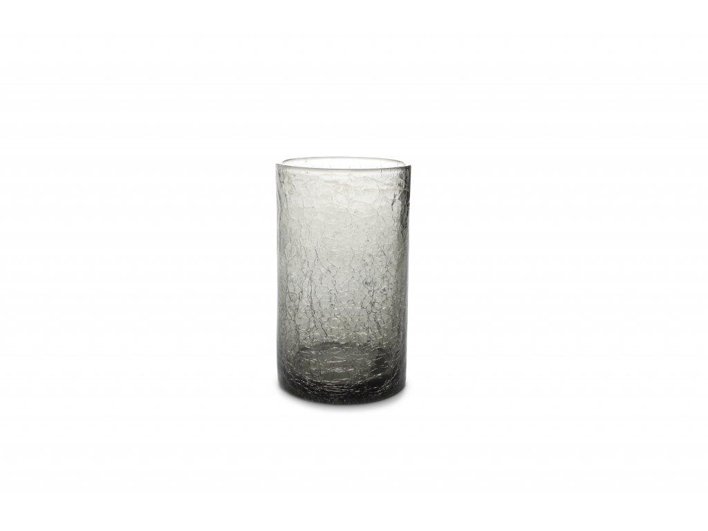 F2D Crackle Longdrink sklenice šedá 400ml