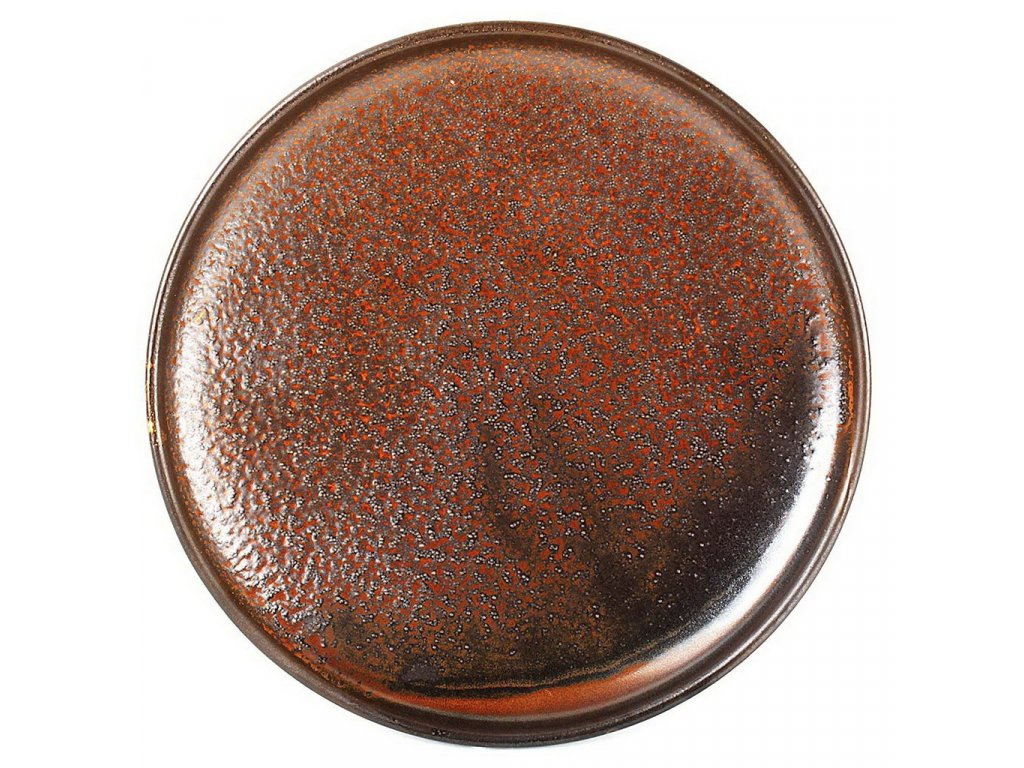 F2D Escura talíř hnědý ø20x2cm