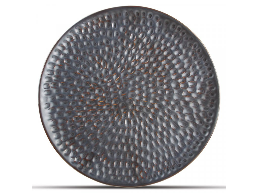 F2D Silver Hammered Brass Plate 20cm