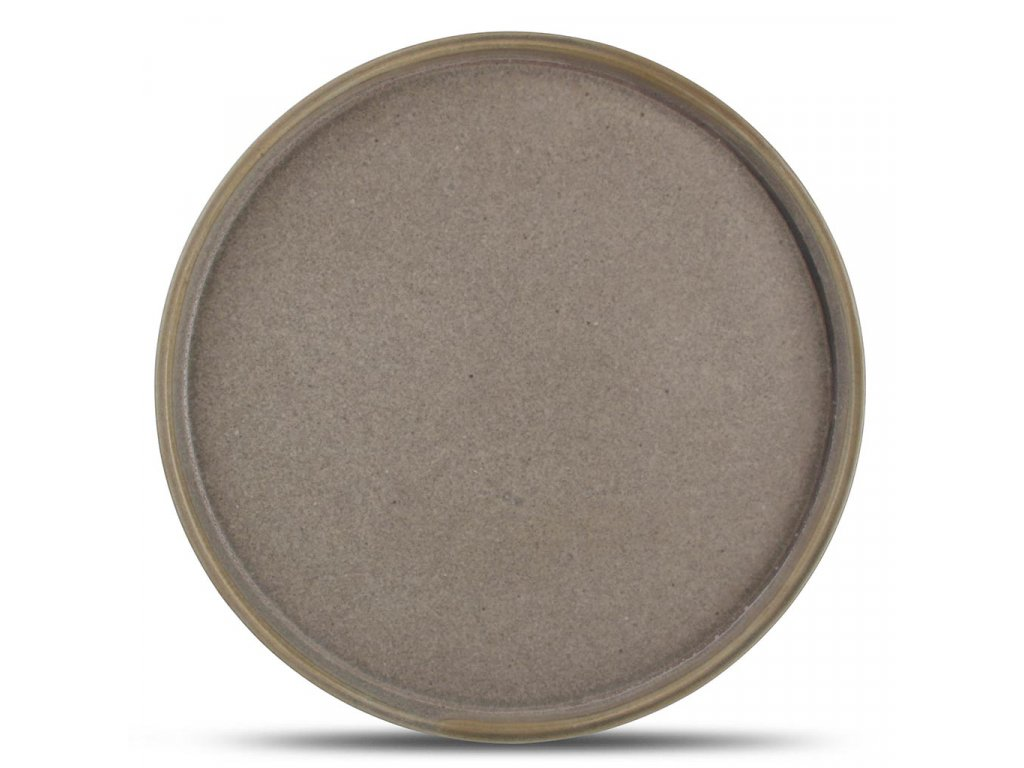 F2D Structo Plate 20,5cm with upstanding rim brown