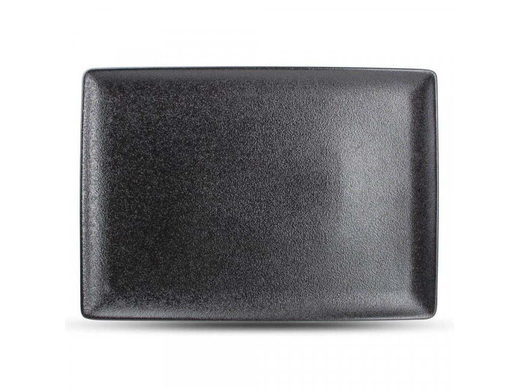 F2D Black Dusk obdélníkový talíř 28x20cm