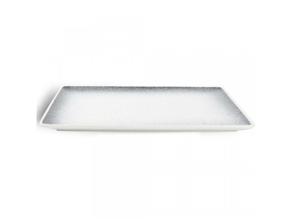 F2D Speckled Dusk Black talíř obdélníkový 28x20cm