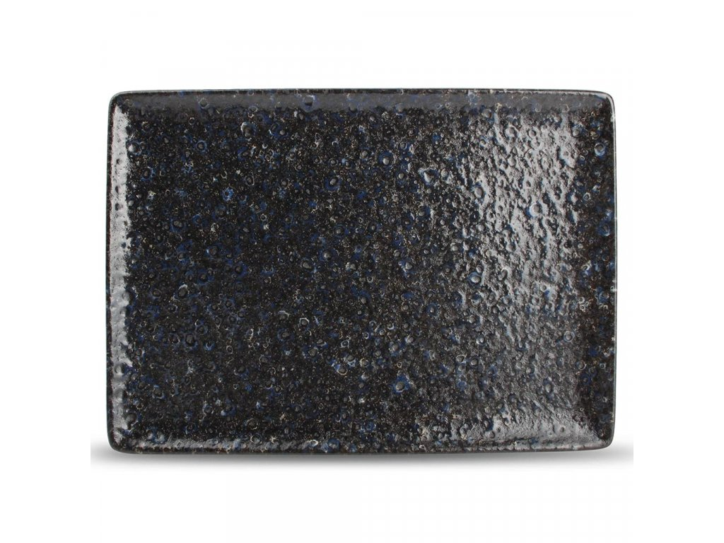 F2D Midnight Dusk Plate 28x20cm rectangular