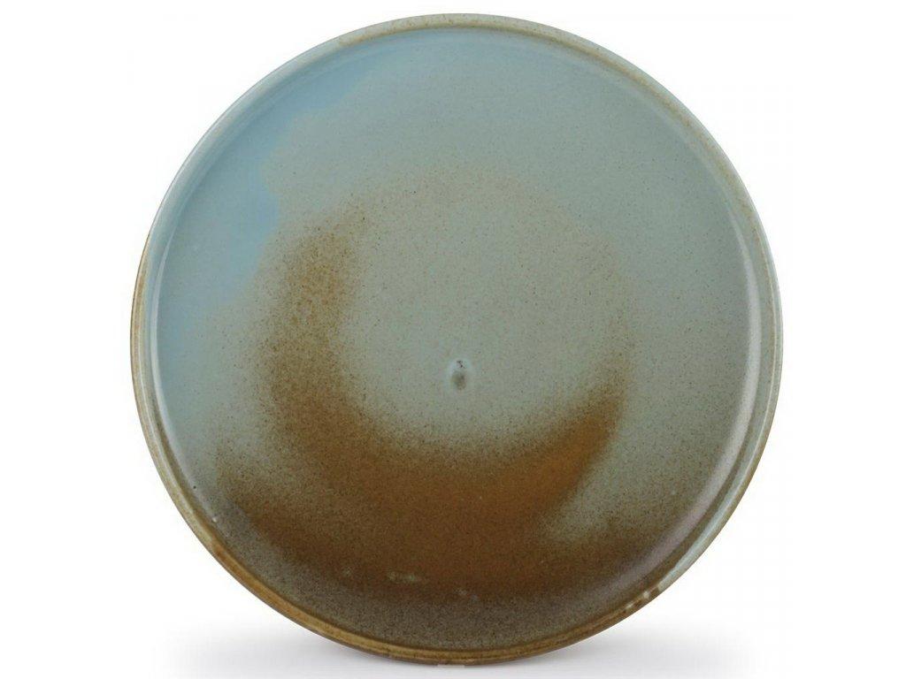 F2D Escura talíř hnědý/zelený ø28,5x2,5cm
