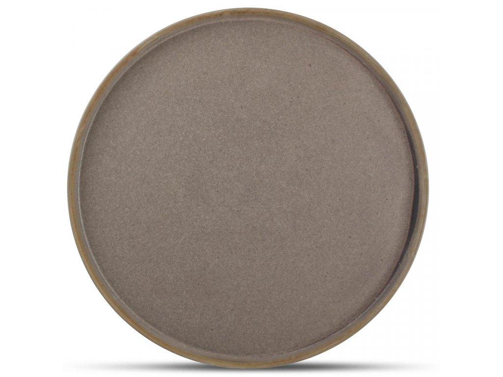 F2D Structo Plate 28cm with upslanding rim brown