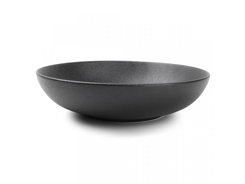 F2D Black Dusk Pasta/salad plate 25xH6cm