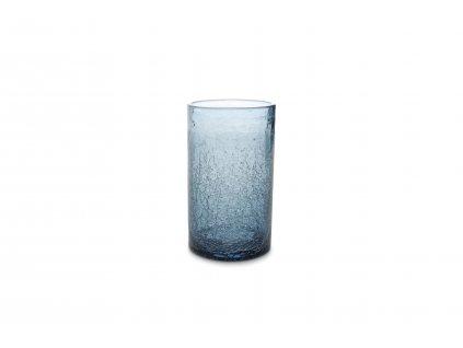 F2D Crackle Longdrink sklenice modrá 400ml