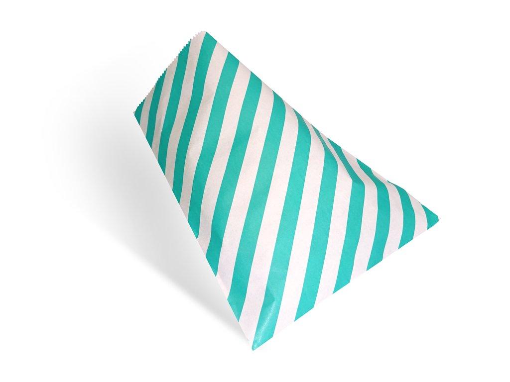 Papírový sáček - pruhovaný