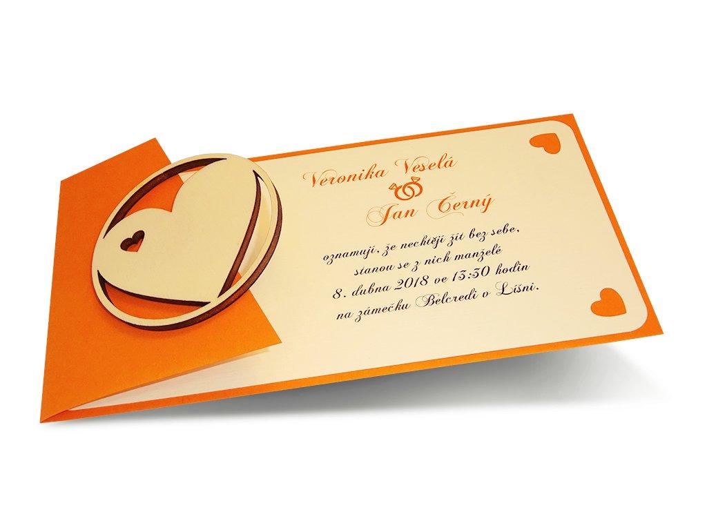 Svatební oznámení - rovné