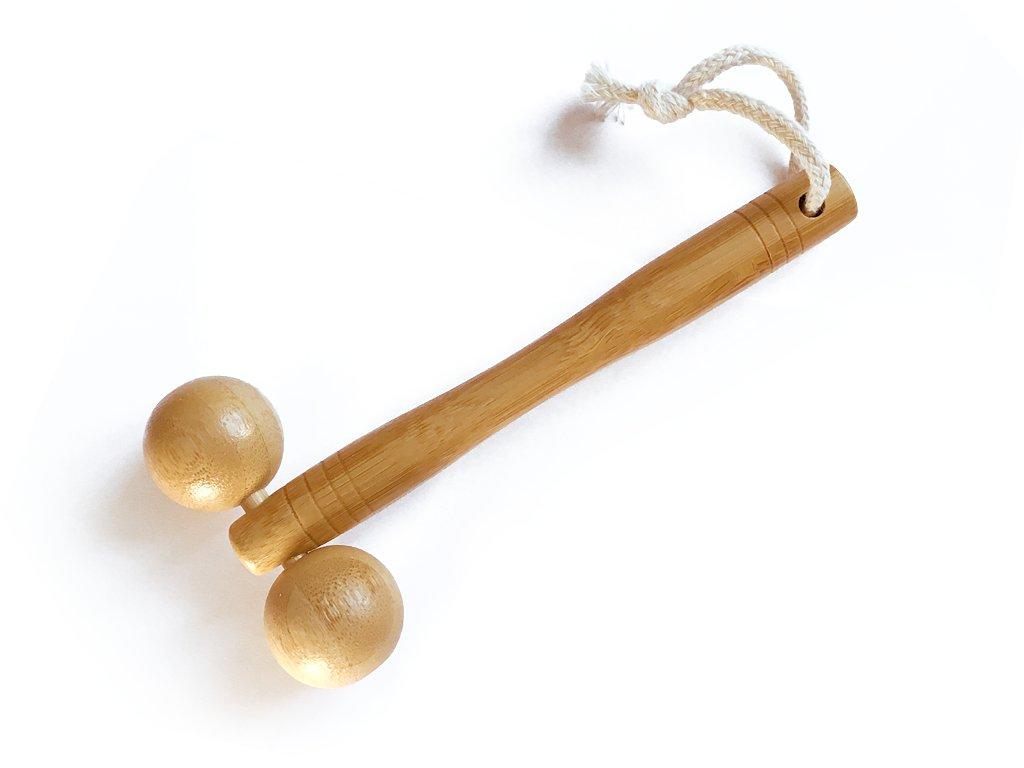 Masážní kuličky z bambusu