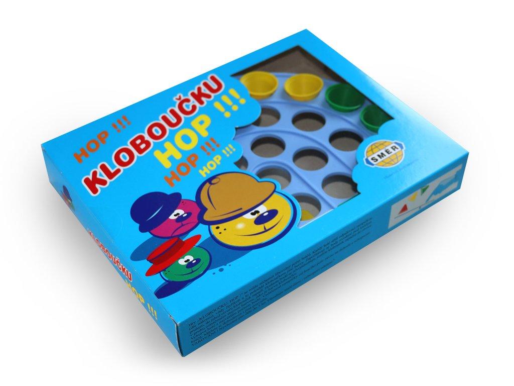 Společenská hra Kloboučku, hop!
